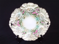 "R.S. Prussia Hand Painted Platter 11.25"" Diameter"