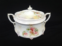 R.S. Prussia Lidded Cracker Jar Hand Painted