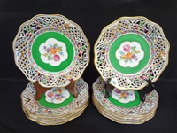 (10) Dresden Reticulated Plates